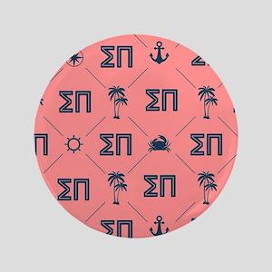 Sigma Pi Coral Pattern Button