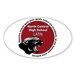 Panther Latin Sticker (Oval)
