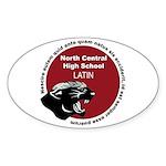 Panther Latin Sticker (Oval)