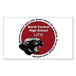 Panther Latin Sticker (Rectangle)