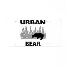 Urban Bear Aluminum License Plate