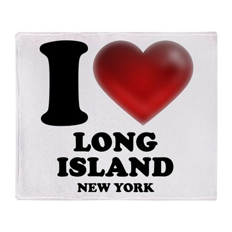 I Heart Long Island Throw Blanket