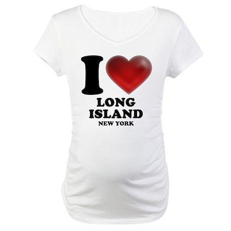 I Heart Long Island Maternity T-Shirt