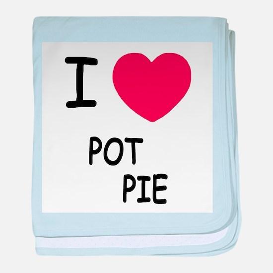 I heart pot pie baby blanket