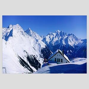 Alpine Scene in Winter, Switzerland