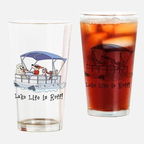 Pontoon Boat Drinking Glass