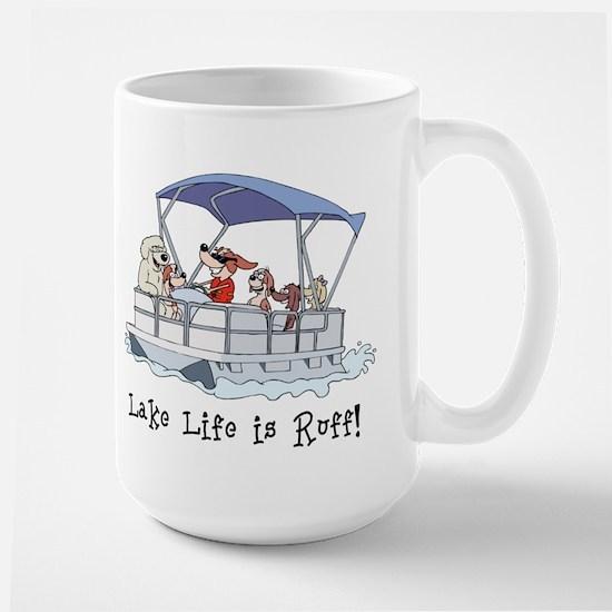 Pontoon Boat Large Mug
