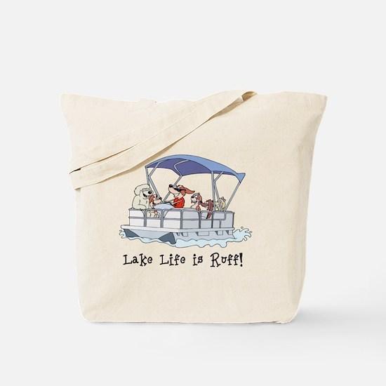 Pontoon Boat Tote Bag