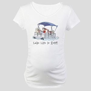 Pontoon Boat Maternity T-Shirt