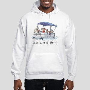 Pontoon Boat Hooded Sweatshirt