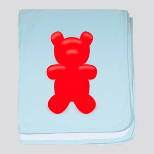 Red Gummi Bear baby blanket