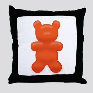 Red Gummi Bear Throw Pillow