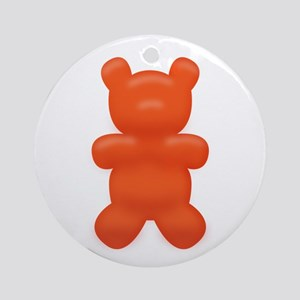 Red Gummi Bear Ornament (Round)