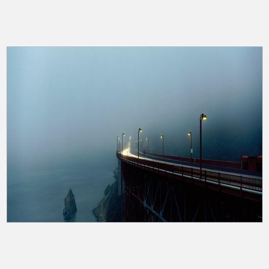 Highway in Fog, San Francisco, California