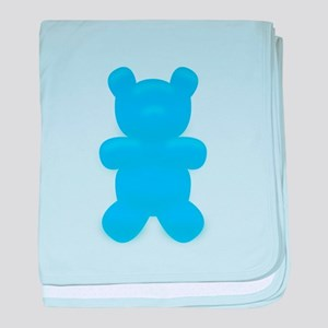 Blue Gummi Bear baby blanket