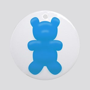 Blue Gummi Bear Ornament (Round)