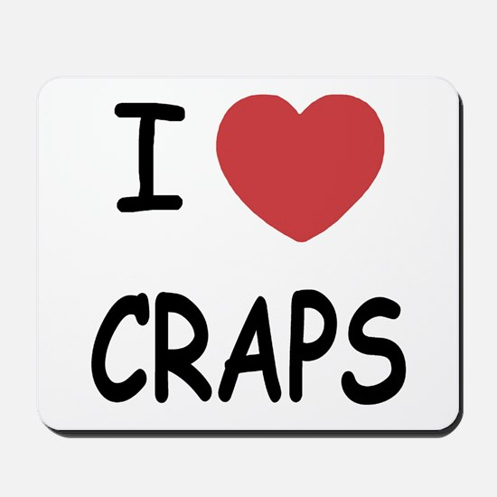 I heart craps Mousepad