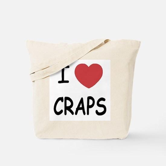 I heart craps Tote Bag