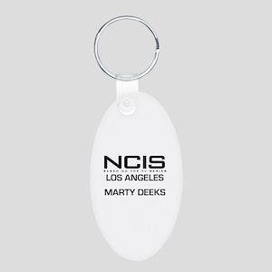 NCIS LA Marty Deeks Aluminum Oval Keychain