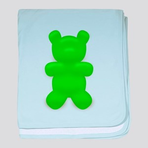 Green Gummi Bear baby blanket