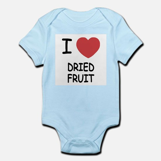 I heart dried fruit Infant Bodysuit