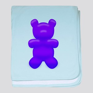 Dark Blue Gummi Bear baby blanket