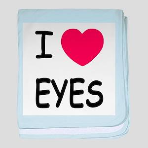 I heart eyes baby blanket