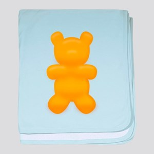 Orange Gummi Bear baby blanket
