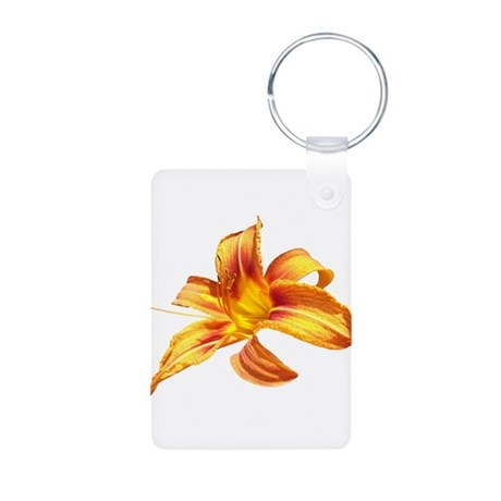 Tiger Lily Aluminum Photo Keychain