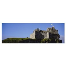 Low angle view of a castle, Duart Castle, Isle Of  Poster