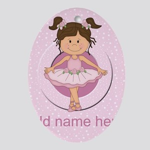 Personalized Ballerina Ballet Ornament (Oval)
