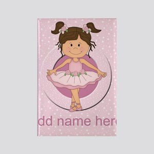 Personalized Ballerina Ballet Rectangle Magnet