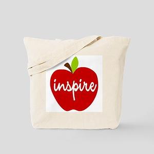 Inspire Apple Tote Bag