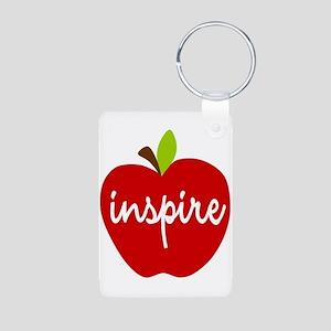 Inspire Apple Aluminum Photo Keychain