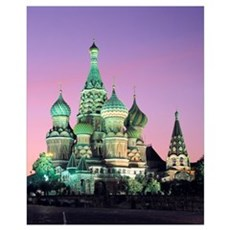 St Basil's Cathedral Moscow Russia Poster