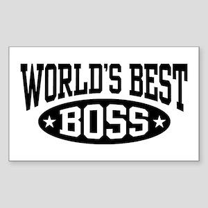 World's Best Boss Sticker (Rectangle)