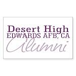 Desert Alumni Rectangle Sticker