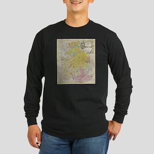 Vintage Map of Bavaria Germany Long Sleeve T-Shirt