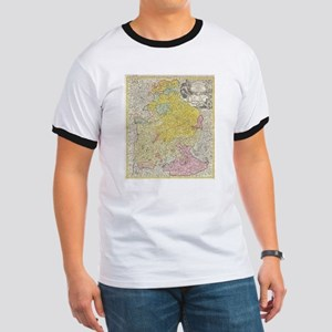 Vintage Map of Bavaria Germany (1728) T-Shirt
