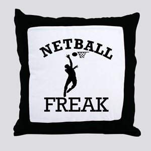 Netball Freak Throw Pillow