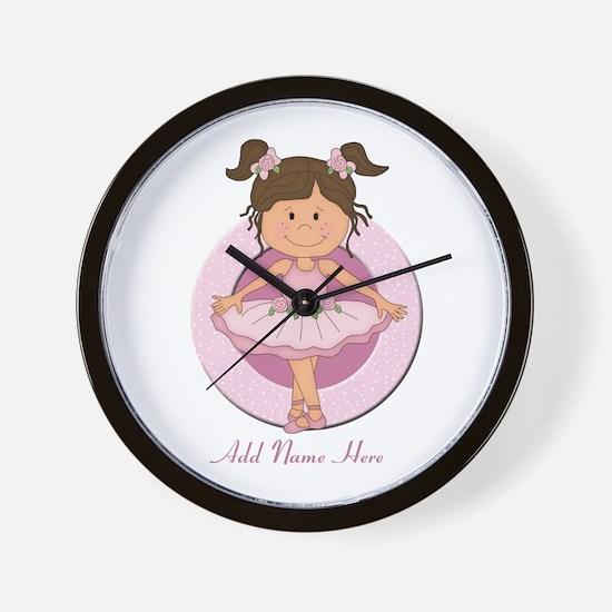 cute pink Ballerina Ballet Wall Clock