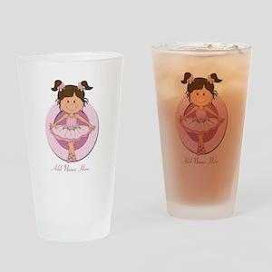 cute pink Ballerina Ballet Drinking Glass