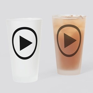 Play Button Drinking Glass