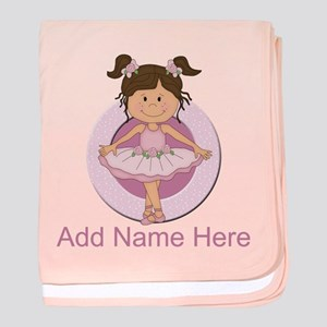Personalized Ballerina Balle baby blanket