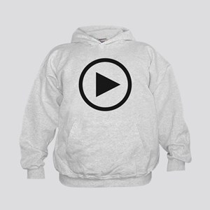 Play Button Kids Hoodie