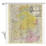Germany map Shower Curtains