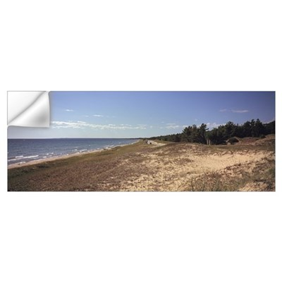 Sand dunes at the lakeside Upper Peninsula Lake Mi Wall Decal