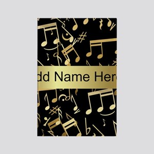 designer gold Musical notes Rectangle Magnet