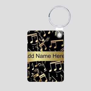 designer gold Musical notes Aluminum Photo Keychai