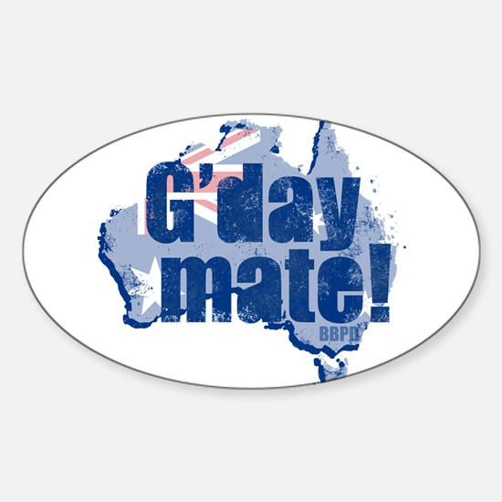 G'day Mate Sticker (Oval)